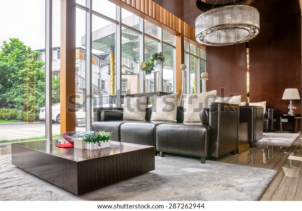 Luxury Hotel Lobby Furniture Modern Design Stock Photo Edit Now