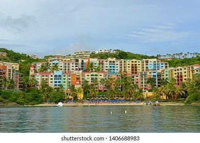 Luxury hotel at Long Bay in Charlotte Amalie, Saint Thomas, US Virgin Islands, USA.