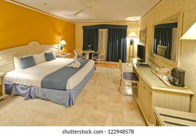 Luxury hotel room. Bahia Principe, Riviera Maya, Mexican Resort.
