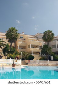Luxury hotel with swimming pool in chayofa. Tenerife, Canary Islands, Spain
