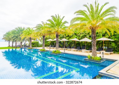 Luxury hotel swimming pool resort - Vacation background
