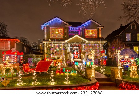 Luxury House Decorated Lighted Christmas New Stock Photo Edit Now