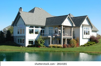 Luxury house on a lake