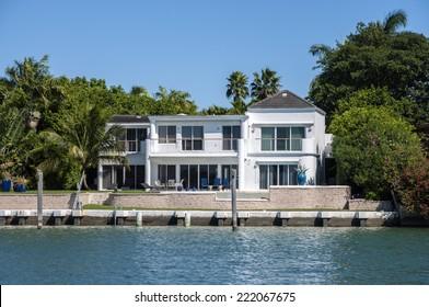 Luxury house on Star Island in Miami, Florida, USA