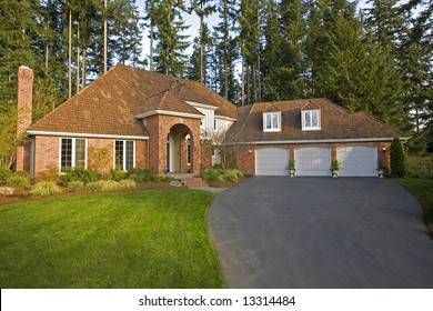 Luxury house viewed from the front