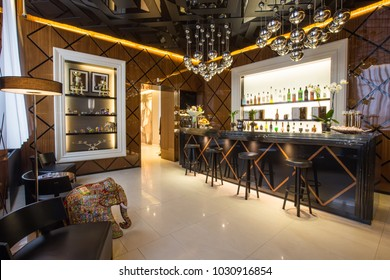 luxury  interior bar alcohol drinks chairs