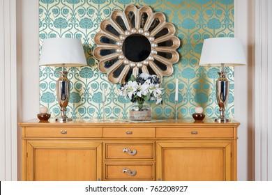 Luxury Interior. Modern art deco living room interior