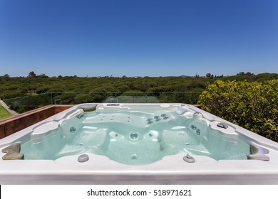 Luxury Jacuzzi outdoor on the roof.