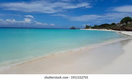 Luxury Kendwa beach without people. Zanzibar, Tanzania