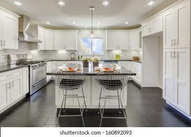 Luxury kitchen in an luxury house.