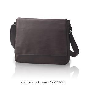 A luxury leather handbag or briefcase