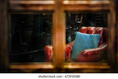 Luxury leather sofa interior vintage