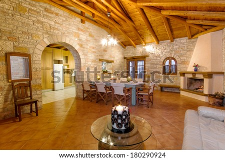 Luxury Living Room Traditional Style Decoration Stockfoto Jetzt