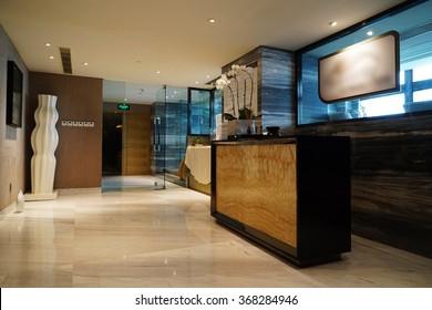 Luxury lobby lounge