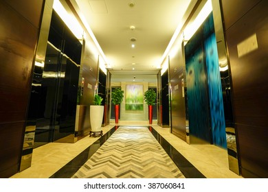Luxury lobby lounge.