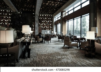 luxury lounge bar interior