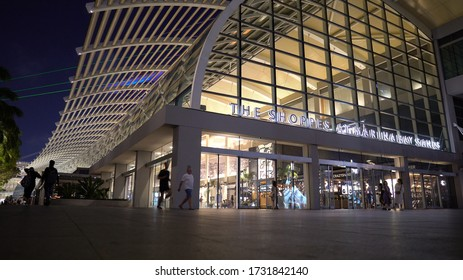Luxury Mall and The Shoppes at Marina Bay Sands Hotel in Singapore - August, 2019