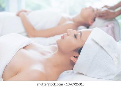 Luxury massage in wellness spa.