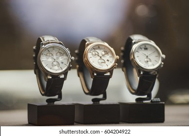 Luxury men watches in a store in London