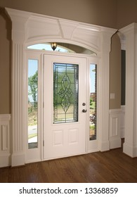Luxury Model Home stained glass front door