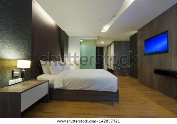 Photo de stock de chambre d\'hôtel moderne de luxe, Bangkok ...