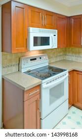 Luxury modern kitchen. Interior design. Vertical.