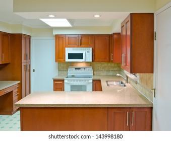 Luxury modern kitchen. Interior design.