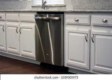 Luxury Modern Kitchen with Stainless Dishwasher