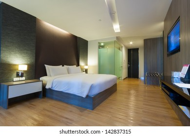 luxury modern room in hotel with facilities, Bangkok, Thailand.