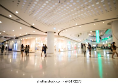 Luxury modern Shopping mall and retail store interior abstract blur background