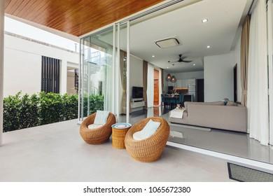 luxury modern villa interior