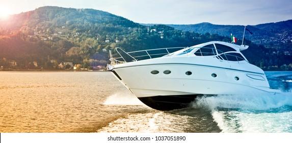 luxury motor boat