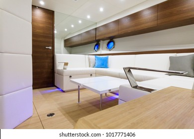 luxury motor boat interior