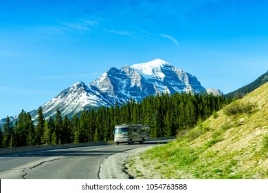 Luxury Motor Home on Road Trip Tour, Banff National Park, Canada