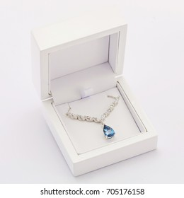 Luxury necklace in the white box