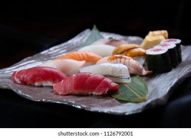luxury nigiri japanese sushi set