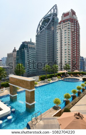 Luxury Outdoor Swimming Pool Five Star Stock Photo Edit Now