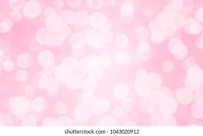 Luxury pink blur abstract background with bokeh lights for backgrounds concept of valentine day.
