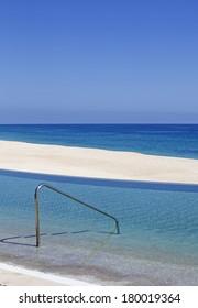 luxury pool facing the ocean