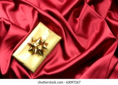 Luxury red satin background