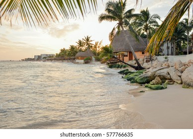 Luxury resort near the coastline, Playa del Carmen, Mexico