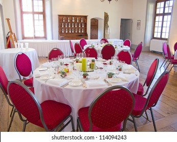 luxury restaurant in the medieval castle Aigle
