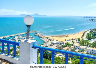 The luxury restaurant on the mountain top offers not only the best dishes, but also the best view on the picturesque coast of Sidi Bou Said, Tunisia.