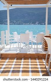 luxury restaurant terrace near sea