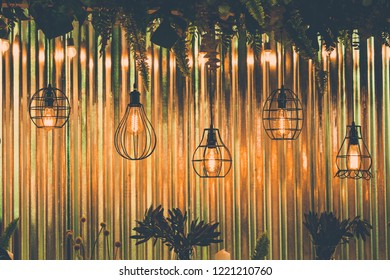Luxury retro light bulb decore