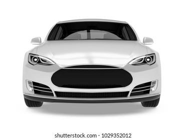 Luxury Sedan Car Isolated. 3D rendering