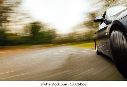 Luxury sedan in turn.