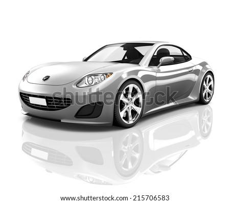 Luxury Silver 3D Sports