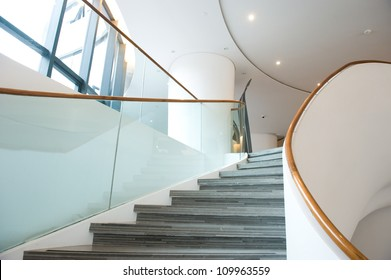 luxury stairs of  modern industrial building.