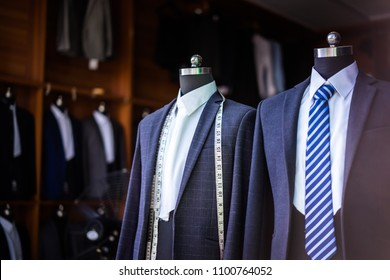 luxury suit in shop
